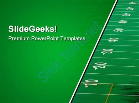 Football Field Sports Powerpoint Templates And Powerpoint Backgrounds 0911 Powerpoint Design Football Powerpoint Template