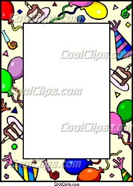 Greeting Card Templates For Corel Wordperfect by Birthday Border Vector Clip