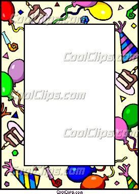 half fold greeting card templates for corel wordperfect birthday border vector clip