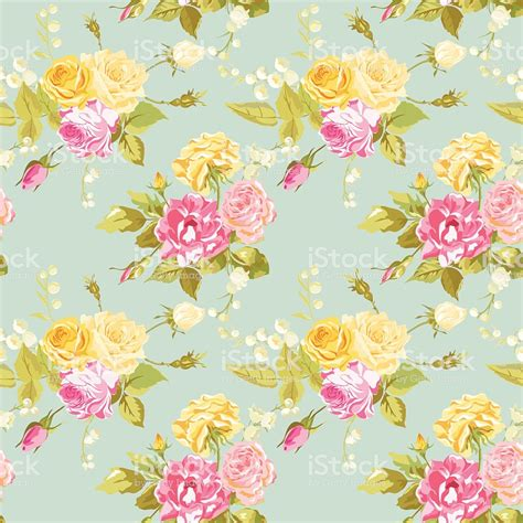 Shabby Floral by Seamless Floral Shabby Chic Background Vintage Roses