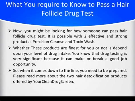 How To Detox Drugs From Hair by Pass A Hair Follicle Test