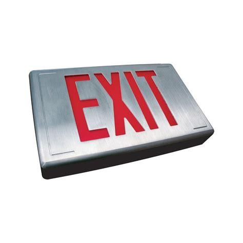 wet location emergency exit light filament design nexis 2 light die cast aluminum led wet