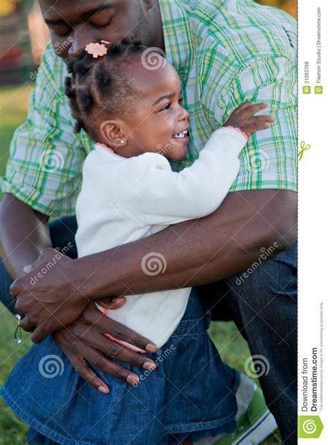 smiling girl hug dad stock photo image  life