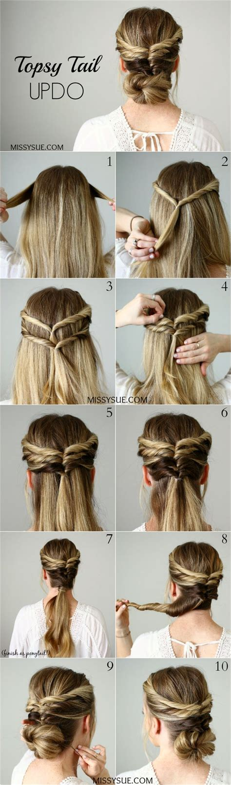Easy 5 Minute Hairstyles by 793 Best Hair Tutorials Images On Hair Ideas