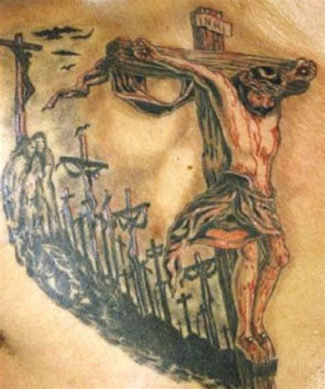 jesus face cross tattoo 25 crucifix designs for