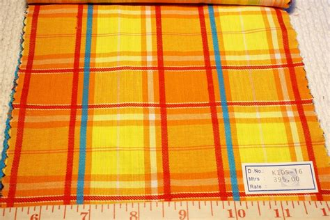 Plaid Patchwork Fabric - madras plaid indian madras plaid fabric patchwork