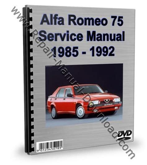 how to download repair manuals 1992 alfa romeo spider free book repair manuals alfa romeo 75 service repair manual workshop download download ma