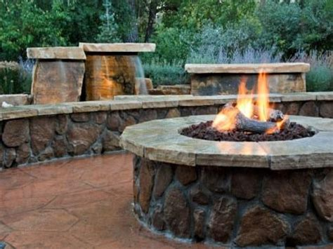 firepit gas firepit landscaping gas pit designs ideas build your