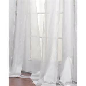 White striped 84 inch sheer curtain panel