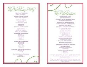 Birthday Program Outline by Wedding Itinerary Templates Free Reception Programs Templates Mughals