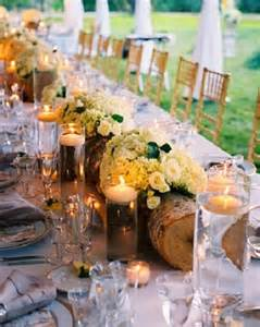 rustic log centerpieces rustic birch logs 21 rustic wedding centerpiece ideas