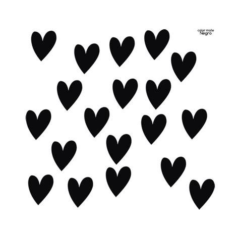 imagenes corazon en negro vinilo mini corazones vinilos decorativos corazones