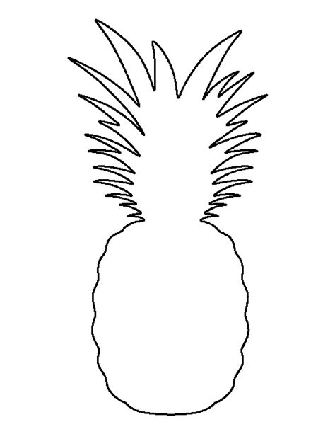 pineapple pattern use the printable outline for crafts