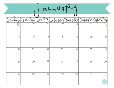 Calendar January 2014 January 2014 Calendar Free Printable Live Craft Eat