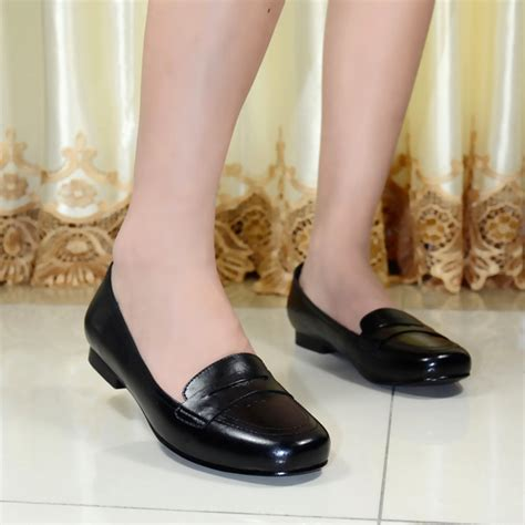 dresses with flat shoes s flat shoes genuine leather low heels flat