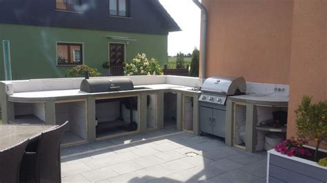 kreative outdoor küchen diy k 252 che beton