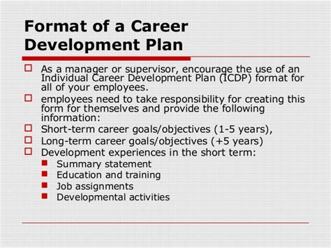 Employee Development Plans Templates Template Business Career Development Plan Template For Employees