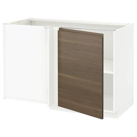 ikea cabinet shelf metod corner base cabinet with shelf white voxtorp walnut