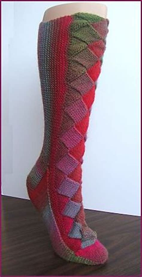 pattern for entrelac socks diy rainbow color patch entrelac knitting socks with