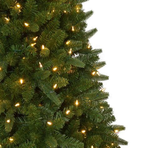 home accents sierra nevada fir tree 75 home accents 7 5 ft pre lit led nevada pe pvc set artificial