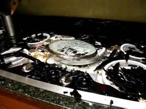 broken glass cooktop ge glass cooktop exploded