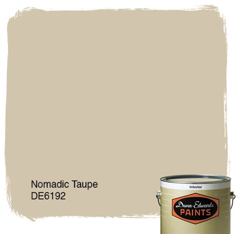 dunn edwards paints nomadic taupe de6192