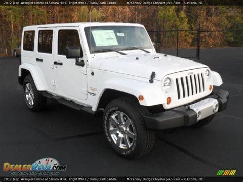2012 White Jeep 2012 Jeep Wrangler Unlimited 4x4 Bright White