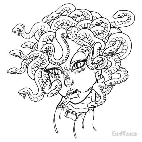 medusa coloring page easy medusa drawing coloring pages jpg 500 215 500