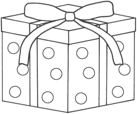 present coloring page present coloring page gift pages presents