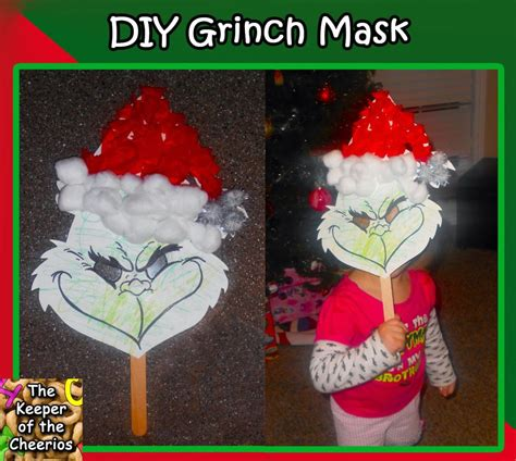 diy kids grinch mask  keeper   cheerios
