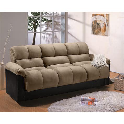 Ara Futon Sofa Bed with Storage   Hazelnut   Value City
