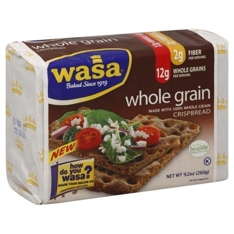 whole grains crackers wasa crispbread crackers whole grain