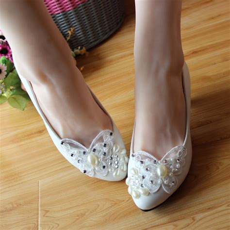 Handmade Bridal Shoes - popular white flat wedding shoes buy cheap white flat