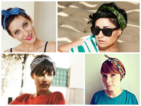 images of bob cut styled with bandanas great looking headbands for short hair hair world magazine