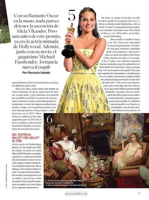 vanidades facebook mexico alicia vikander vanidades magazine mexico june 2016 issue