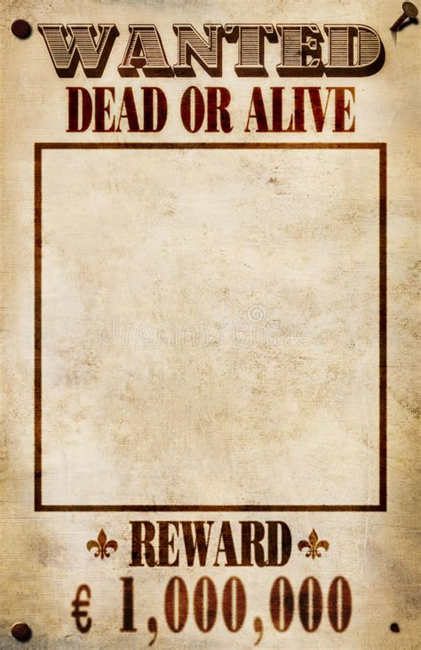 Wanted Poster Euro Reward Stock Illustration Illustration Of America Outlaw 25093893 Chs Posters Templates