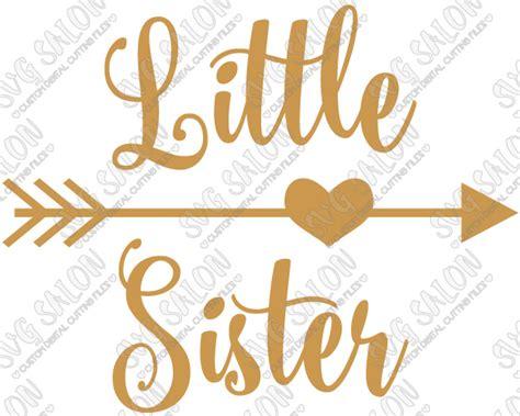 little sister heart arrow custom diy iron on vinyl shirt