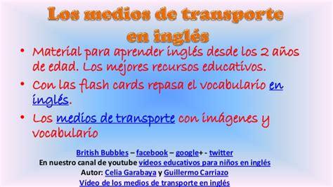 ingls para nios 2 1519140851 los medios de transporte en ingl 233 s fichas educativas para ni 241 os