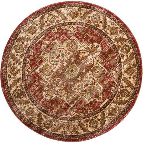 round accent rugs nourison delano brick 5 ft 3 in round area rug 370969