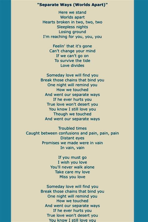 journey song lyrics four