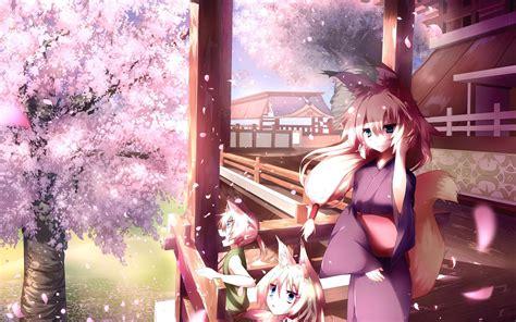 japanese anime wallpaper hd anime japanese girl wallpaper back vocaloid blossoms