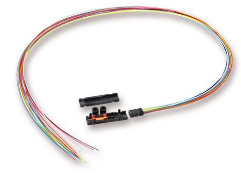 fiber fan out kit corning 6 fiber ribbon fan out kit 900um 36 quot tubing