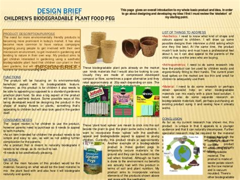 design brief in product design product design coursework