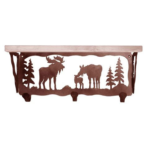 Moose Coat Rack by Moose Family Coat Rack With Shelf 20 Inch