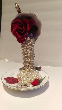 tea cup floral cascade step by step tutorial on how to