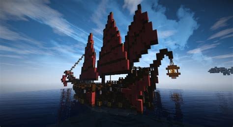 minecraft asian boat chinese junk ship minecraft project