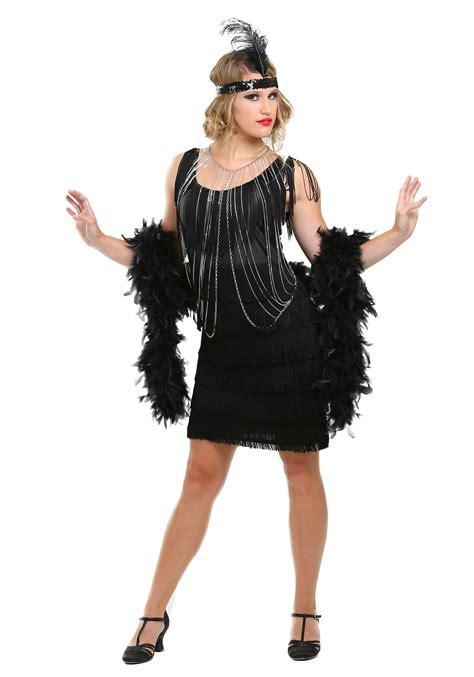 Costume Flapper Flapper Roaring Costume Ideas 1920s Era Costumes   black fringe 1920 s flapper costume