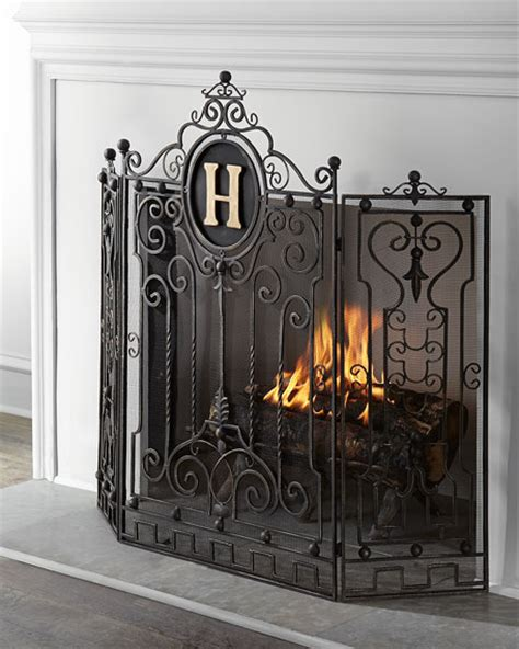Monogrammed Fireplace Screen by Personalized Fireplace Screen
