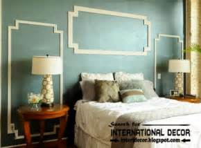 bedroom wall panel design ideas: decorative wall molding or wall moulding designs ideas