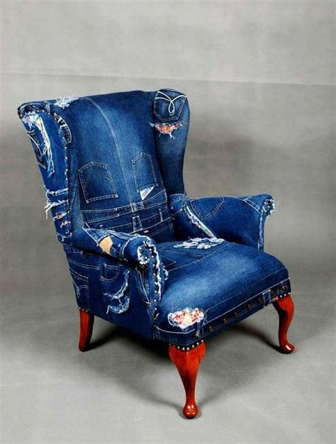 denim armchair denim chair creative jean projects pinterest boys